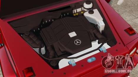 Mercedes-Benz G500 para GTA 4 vista de volta