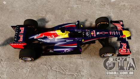 Carro, Red Bull RB9 v2 para GTA 4 vista direita