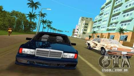 Mercedes-Benz 190E 1990 para GTA Vice City deixou vista