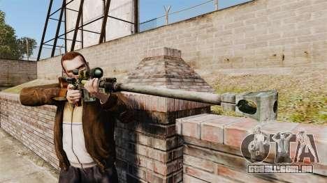 Fuzil anti-material para GTA 4 terceira tela