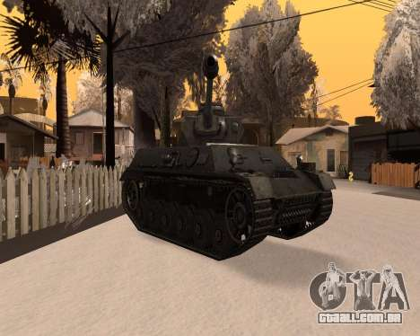 Panzerkampfwagen para GTA San Andreas vista direita