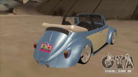 VW Beetle 1969 para GTA San Andreas vista direita