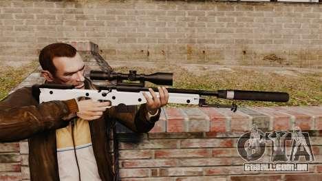 Rifle de sniper L115A1 AW com um silenciador v1 para GTA 4
