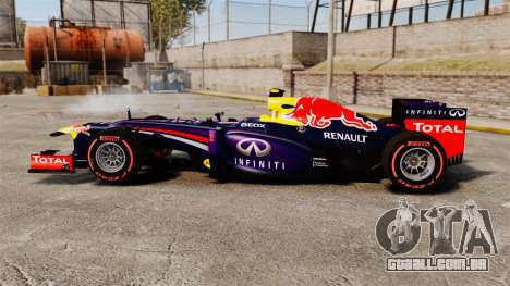 RB9 v6 carro, Red Bull para GTA 4 esquerda vista
