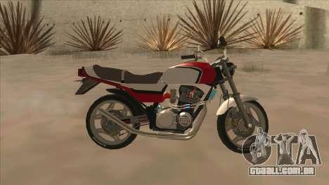 Honda CBX400F para GTA San Andreas esquerda vista