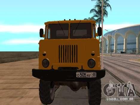 Caminhão de gás-66 para GTA San Andreas esquerda vista