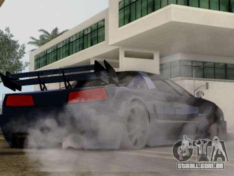 Infernus DoTeX para GTA San Andreas traseira esquerda vista