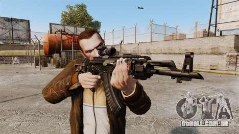 Kalashnikov AK-47 Sopmod para GTA 4 terceira tela