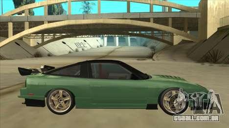 Nissan 180SX Uras GT para GTA San Andreas traseira esquerda vista