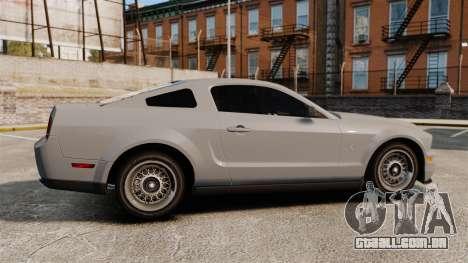 Ford Mustang Shelby GT500 2008 para GTA 4 esquerda vista