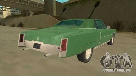 Cadillac Eldorado para GTA San Andreas vista traseira