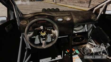 Ford Focus RS Munchis WRC para GTA 4 vista interior