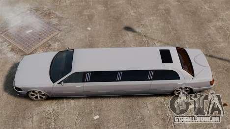 Limusine nos drives de 22 polegadas para GTA 4 vista direita