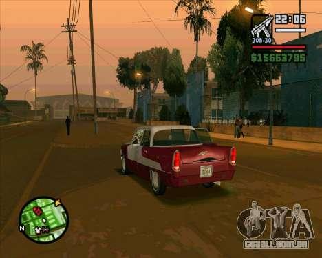 Oceanic HD para GTA San Andreas vista traseira