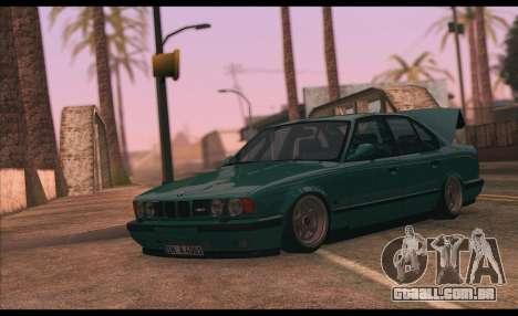 BMW 5-er E34 para GTA San Andreas traseira esquerda vista