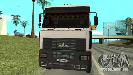 MAZ 5440 para GTA San Andreas esquerda vista