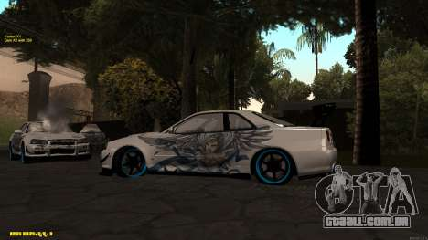 Nissan Skyline GTR 34 CIAY para GTA San Andreas