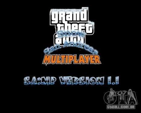 Snow San Andreas 2011 HQ - SA:MP 1.1 para GTA San Andreas