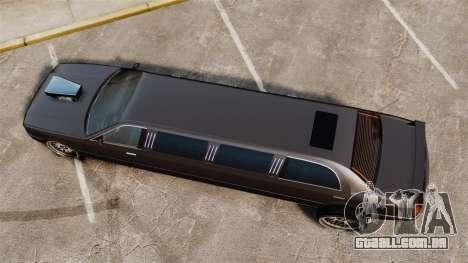 Limusine drag racing para GTA 4 vista direita