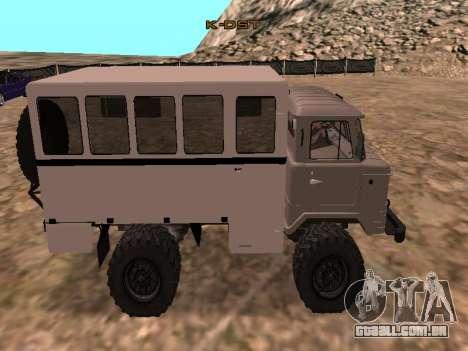 GAZ 66 assistir para GTA San Andreas esquerda vista