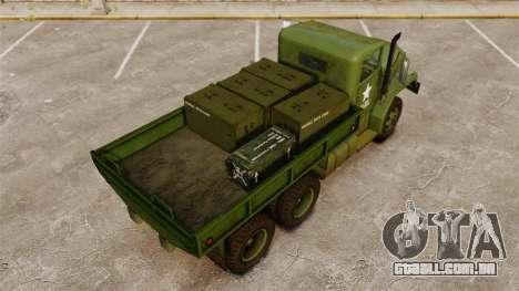 Base militar caminhão AM geral M35A2 1950 para GTA 4 motor