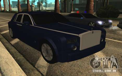 Rolls-Royce Phantom para GTA San Andreas vista superior