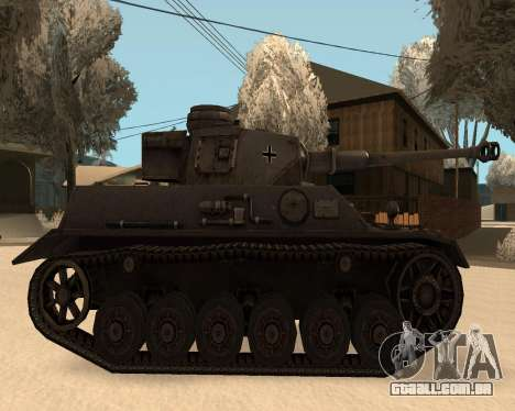 Panzerkampfwagen para GTA San Andreas traseira esquerda vista