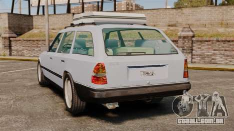 Mercedes-Benz W124 Wagon (S124) para GTA 4 traseira esquerda vista