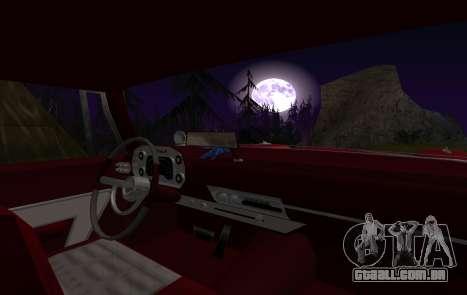Plymouth Fury para GTA San Andreas vista interior
