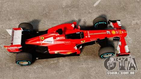 Ferrari F138 2013 v1 para GTA 4 vista direita