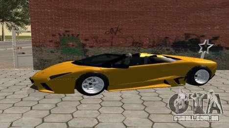 Lamborghini Reventon Shakotan para GTA San Andreas esquerda vista