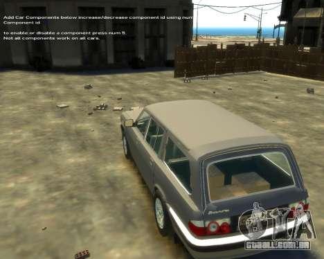 GÁS 330221 para GTA 4 vista de volta