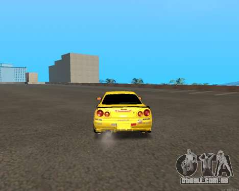 Nissan Skyline R34 Azusa Mera para GTA San Andreas vista direita