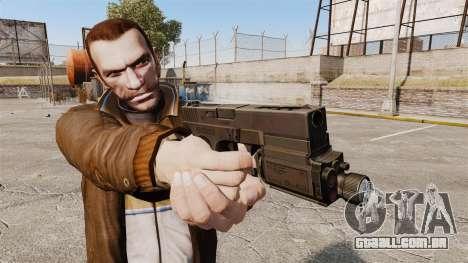 Pistola tática Glock 18 v1 para GTA 4 terceira tela
