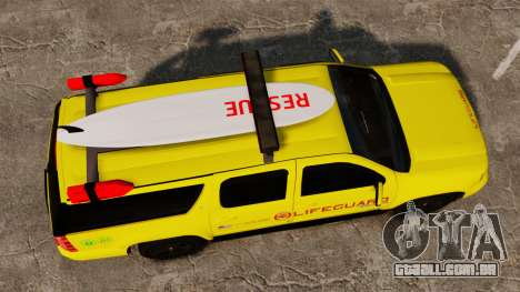 Chevrolet Suburban Los Santos Lifeguard [ELS] para GTA 4 vista direita