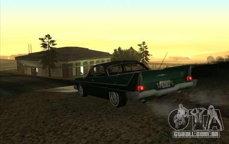 Plymouth Fury para GTA San Andreas vista direita