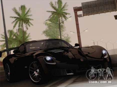 Devon GTX 2010 para GTA San Andreas traseira esquerda vista