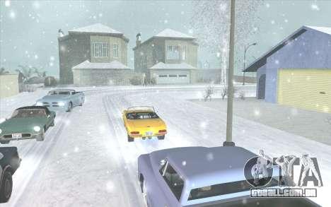 Snow San Andreas 2011 HQ - SA:MP 1.1 para GTA San Andreas por diante tela