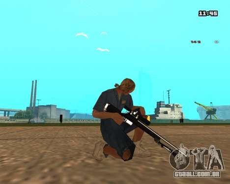 White Chrome Sniper Rifle para GTA San Andreas
