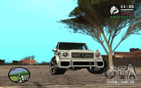 Mercedes-Benz G65 AMG para GTA San Andreas vista superior