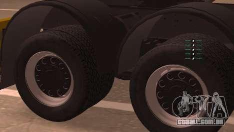 KAMAZ 260 Turbo para GTA San Andreas traseira esquerda vista