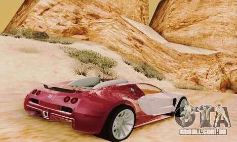 Bugatti Veyron 16.4 Concept para GTA San Andreas vista direita