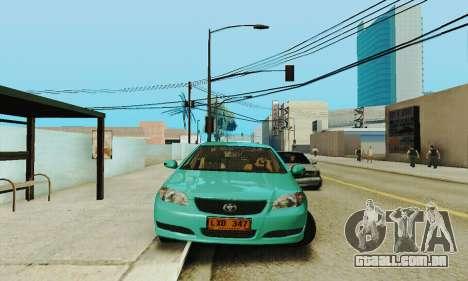 Toyota Corolla City Mastercab para GTA San Andreas vista traseira