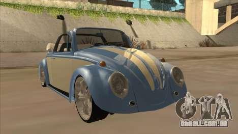 VW Beetle 1969 para GTA San Andreas esquerda vista