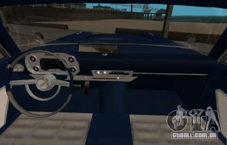 Plymouth Fury para GTA San Andreas esquerda vista