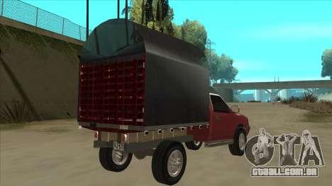 Chevrolet Luv 2.500 diesel para GTA San Andreas vista direita