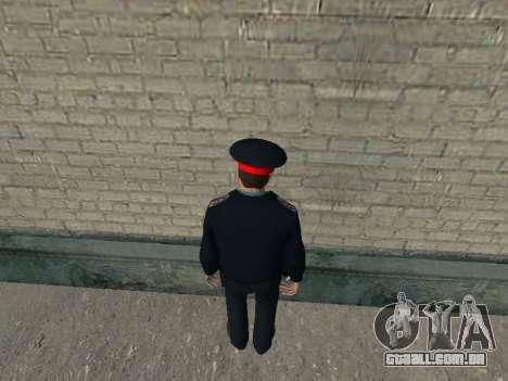 O capitão do Ministério do INTERIOR russo para GTA San Andreas segunda tela