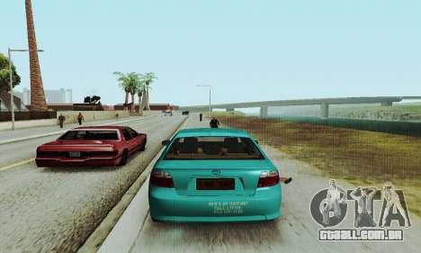 Toyota Corolla City Mastercab para GTA San Andreas vista direita