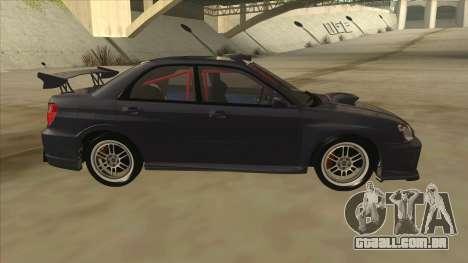 Subaru Impreza WRX STI Drift 2004 para GTA San Andreas traseira esquerda vista