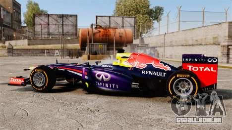 Carro, Red Bull RB9 v2 para GTA 4 esquerda vista